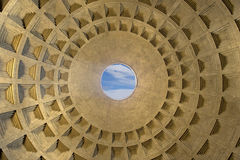 The dome of the Pantheon royalty free stock photos