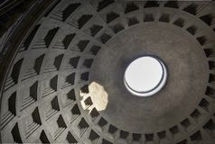 Pantheon dome in rome italy stock photo