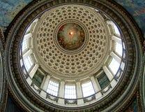 Cupola of the pantheon of Paris stock photos
