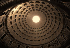 Dome of Pantheon in Rome Stock Photos