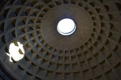 The dome of the pantheon. Rome royalty free stock photos