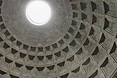 Dome of the Pantheon in Rome, Italy Stock Image