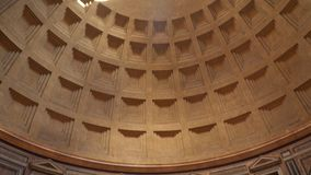 The dome of the Pantheon in Rome is Italy stock video