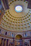 Dome of Pantheon in Rome, Italy, with the tomb of Raphael at the stock photography