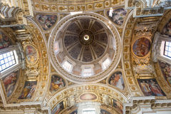 Dome of Papal Basilica of Saint Mary Major (Basilica Papale di Santa Maria Maggiore) in Stock Photo