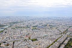 Dome and Paris view from an aerial view Royalty Free Stock Photos