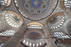 Dome patterns of Selimiye Mosque Stock Image