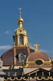 Dome of Peter and Paul cathedral in Saint-Petersburg Stock Photo
