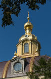 Dome of Peter and Paul cathedral in Saint-Petersburg Royalty Free Stock Photos