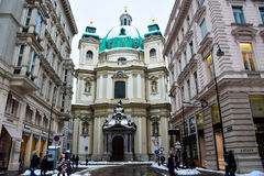 Dome of Peterskirche St. Peter`s Church Royalty Free Stock Photo