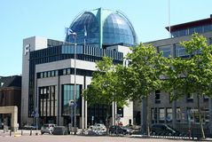 Dome of rabobank building Leeuwarden. Netherlands, Friesland, Leeuwarden,juni 2016: dome of the rabobank building Royalty Free Stock Image