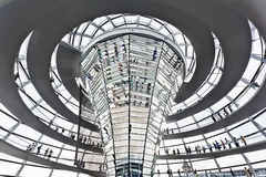 Dome Reichstag  berlin germany Royalty Free Stock Photos
