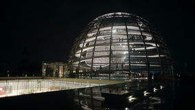 The dome of the Reichstag Berlin Germany evening view time lapse stock video footage