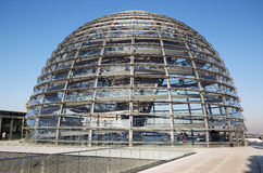 Dome of reichstag building Royalty Free Stock Photo