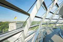 Dome of the Reichstag building Stock Image
