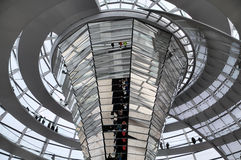 Dome of Reichstag.  Inside view. Royalty Free Stock Image
