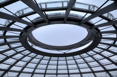 Dome of Reichstag.  Inside view. Stock Photo