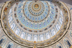 Dome of the Resurrection Cathedral in the New Jerusalem Monastery. Not far from Moscow after the restoration Royalty Free Stock Photography