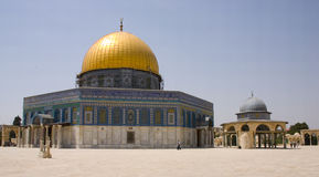 Dome of the Rock. The golden dome of the rock in Jerusalem Stock Images