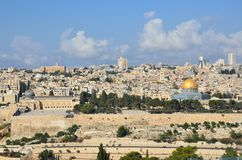 Dome of the Rock. In Old city Muslim Quarter,Jerusalem Royalty Free Stock Images