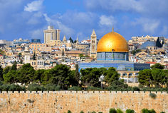 Dome of the Rock. In Old city Muslim Quarter,Jerusalem Royalty Free Stock Photography