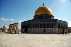 Dome of the Rock. On the temple mount in Israel stock image