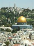Dome of the rock. Jerusalem old city stock photo