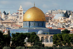 Dome of the rock. The Dome of the rock in Jerusalem royalty free stock images