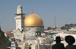 Dome of the Rock. The Golden Dome of the Rock, Jerusalem,Israel stock photos