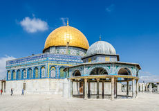Dome of the Rock and the adjacent Dome of the Chain on the Temple Mount in the Old City of Jerusalem, Israel. Stock Image