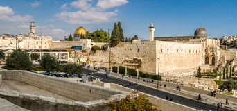 Dome of the Rock and Al-Aqsa Mosque in Jerusalem Royalty Free Stock Photos