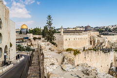 Dome of the Rock and Al-Aqsa Mosque in Jerusalem Stock Photography
