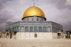 Dome Of The Rock With Clouds Royalty Free Stock Photography