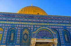 Dome of the Rock in details Stock Photos