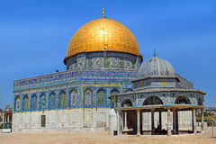 Dome of the Rock and Dome of the Chain at Temple Mount, Old City of Jerusalem Royalty Free Stock Images