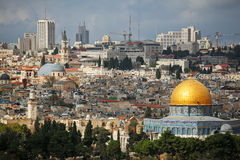 Dome of the Rock and Dome of the Holy Sepulcher Royalty Free Stock Photo