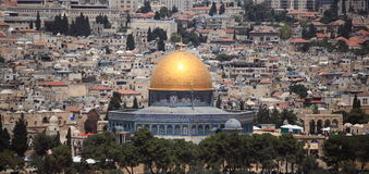 Dome of the Rock from the Dominus Flevit Royalty Free Stock Photography