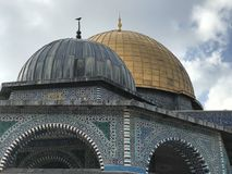 The Dome of the Rock. The golden Dome of the Rock in Jerusalem. AlAqsa Mosque Stock Images