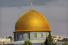 Dome of the Rock Islamic Mosque Temple Mount Jerusalem Israel Stock Image