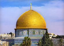 Dome of the Rock Islamic Mosque Temple Mount Jerusalem Israel Stock Photos