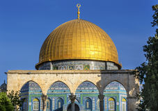 Dome of the Rock Islamic Mosque Temple Mount Jerusalem Israel Stock Photo