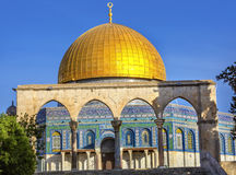 Dome of the Rock Islamic Mosque Temple Mount Jerusalem Israel Stock Photography