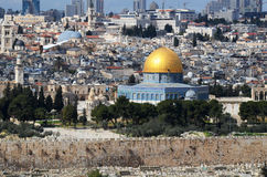 Dome of the Rock in Israel Stock Image