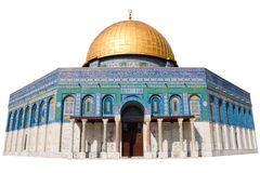 Dome of the Rock - Jerusalem. The Dome of the Rock in Jerusalem - Isolated Stock Images
