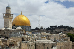 Dome of the Rock. The Dome Of The Rock in Jerusalem as seen from the rooftops of the Jewish quarter Stock Photo