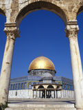 Dome of the Rock - Jerusalem - Israel. The Dome of the Rock is an Islamic shrine in Jerusalem. For Muslims it is the third most holy place after Mecca and Medina royalty free stock photography