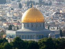 The Dome of the Rock. Jerusalem, Israel royalty free stock photos