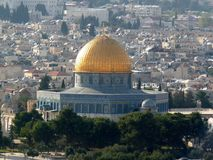 The Dome of the Rock. Jerusalem, Israel royalty free stock images
