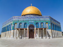 Dome of the Rock Jerusalem Israel. Golden Dome of the Rock in Jerusalem Israel on the Temple Mount Stock Images