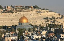 Dome of the rock in Jerusalem, israel. Royalty Free Stock Images